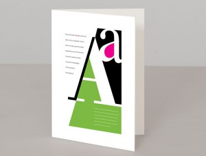 Letter A A5 Greetings Card
