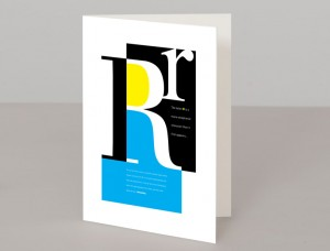 Letter R A5 Greetings Card