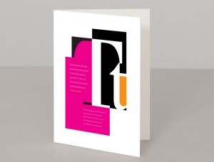 Letter T A5 Greetings Card