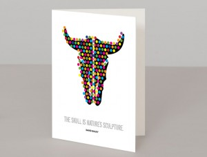 Animal Skull A5 Greetings Card
