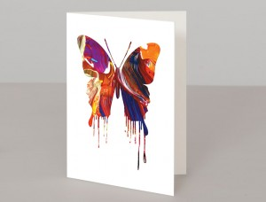 Orange Butterfly A5 Greetings Card