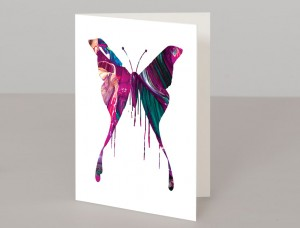 Purple Butterfly A5 Greetings Card