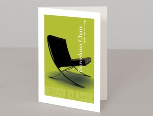 Barcelona Chair A5 Greetings Card