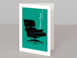 Vitra Chair A5 Greetings Card