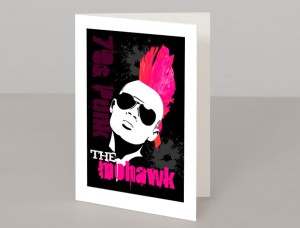 The Mohawk Hairstyle A5 Greetings Card