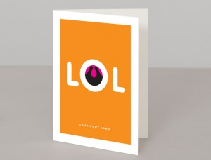 LOL A5 Greetings Card