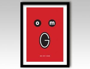OMG Art Print