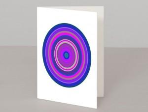 Purple Pop Art Target A5 Greetings Card