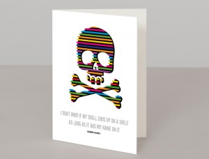 Skull And Crossbones A5 Greetings Card