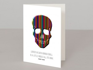 Skull A5 Greetings Card