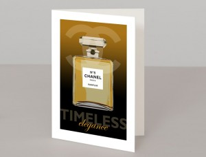 Chanel Perfume A5 Greetings Card