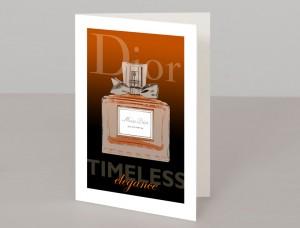 Dior Perfume A5 Greetings Card