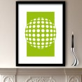 Green Abstract Circles Design Art Print