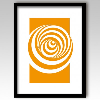 Orange Abstract Circles Design Art Print