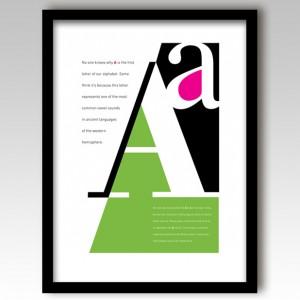 Letter A Art Print