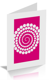 Abstract Circles A5 Greetings Card