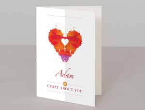 Crazy About You Personalised A5 Greetings Card
