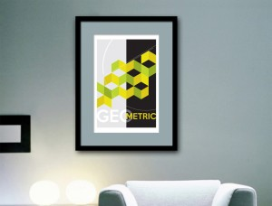 Green Geometric Design Art Print