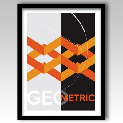 Orange Geometric Design Art Print