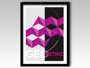 Purple Geometric Design Art Print