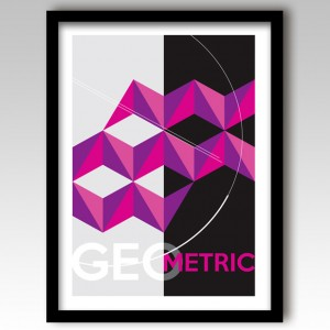 Purple Geometric Design Art Print