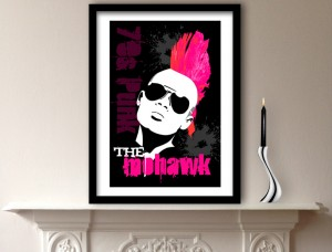 Mohawk Hairstyle Art Print