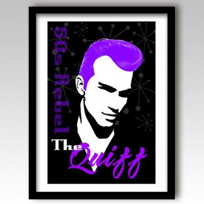 Quiff Hairstyle Art Print