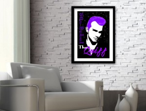 Quiff Hairstyle Art Print