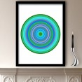Green Pop Art Target Art Print
