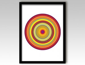 Orange Pop Art Target Art Print