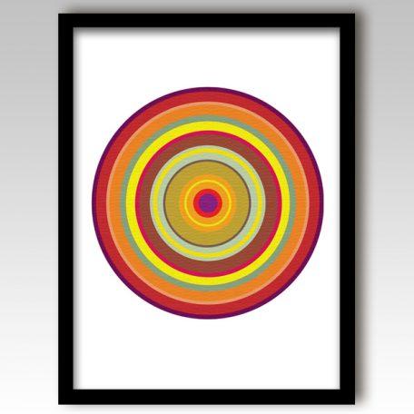 Orange Pop Art Target Art Print