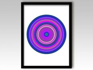 Purple Pop Art Target Art Print