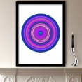 Purple Pop Art Target Art Print