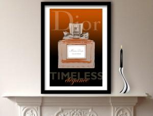 Dior Perfume Art Print