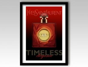 YSL Perfume Art Print