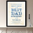 World's Best Dad Personalised Art Print