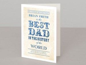 World's Best Dad Personalised Greetings Card