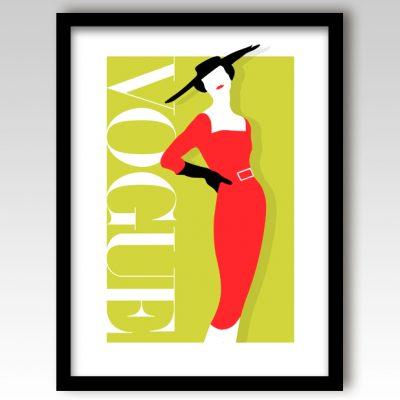Vogue Art Print – Green