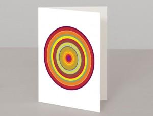 Orange Pop Art Target A5 Greetings Card