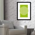 Green Abstract Circles Design Art Print