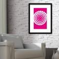Pink Abstract Circles Design Art Print