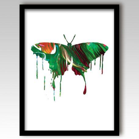 Green Butterfly Art Print