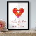 Crazy About You Personalised Poster
