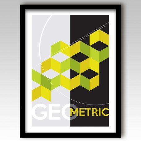 Green Geometric Design Art Print