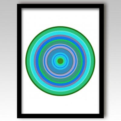 Green Pop Art Target Art Print