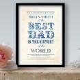 World's Best Dad Personalised Art Print